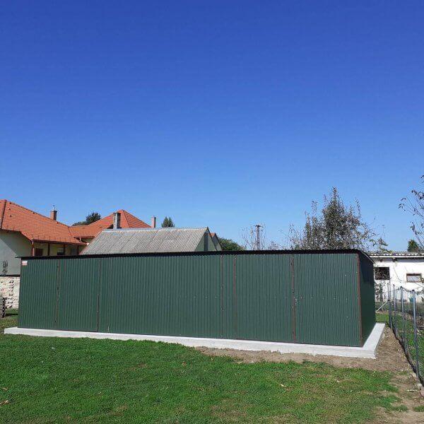 Plechová garáž 10x5 so spádom strechy dozadu BTX 6020
